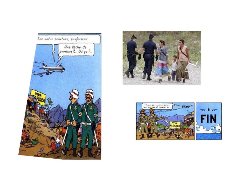 Tintin chez les Roms