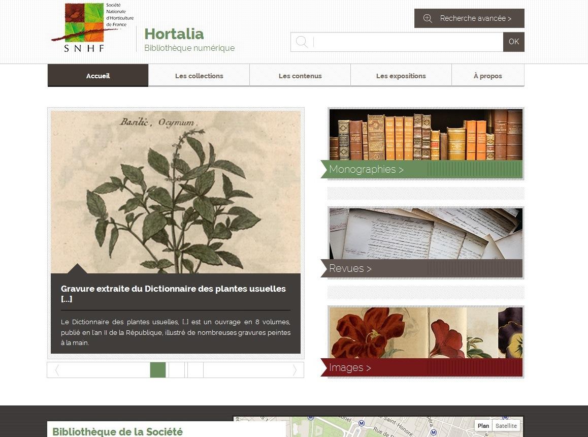 Hortalia : bibliothèque numérique de la Société Nationale d'Horticulture deFrance