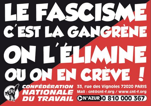 CNT : le fascisme c'est la gangrène