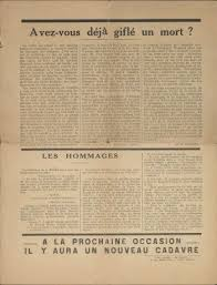 """Un cadavre "" le document original"