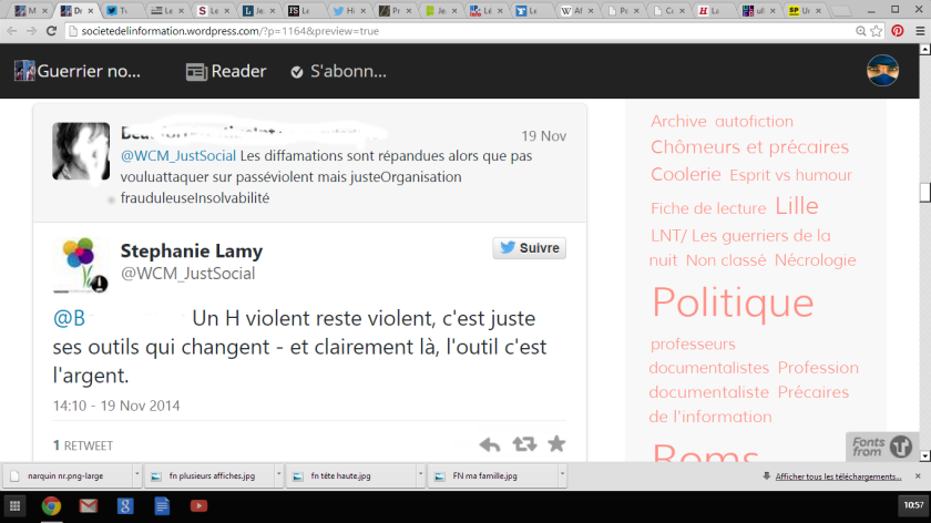 twitt un h violent