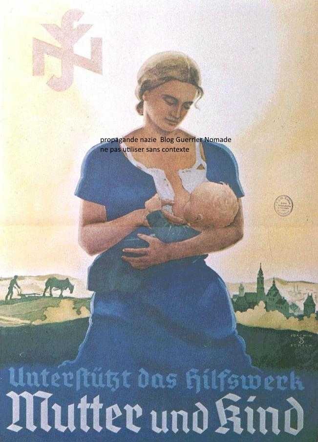 Le Polyamour une arme contre le patriarcat ? (ici une affiche de propagande nazie)
